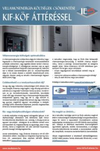 Flier about transition from low voltage to medium voltage (Hungarian)